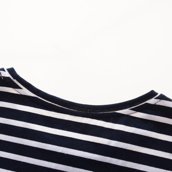 "Men's Casual Cotton Striped T-Shirt ""Athletics College"""