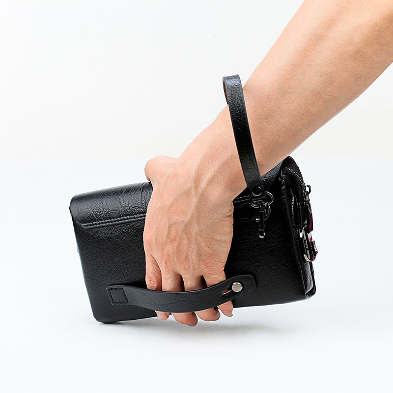 Men's Leather Clutch For Phone And Pen