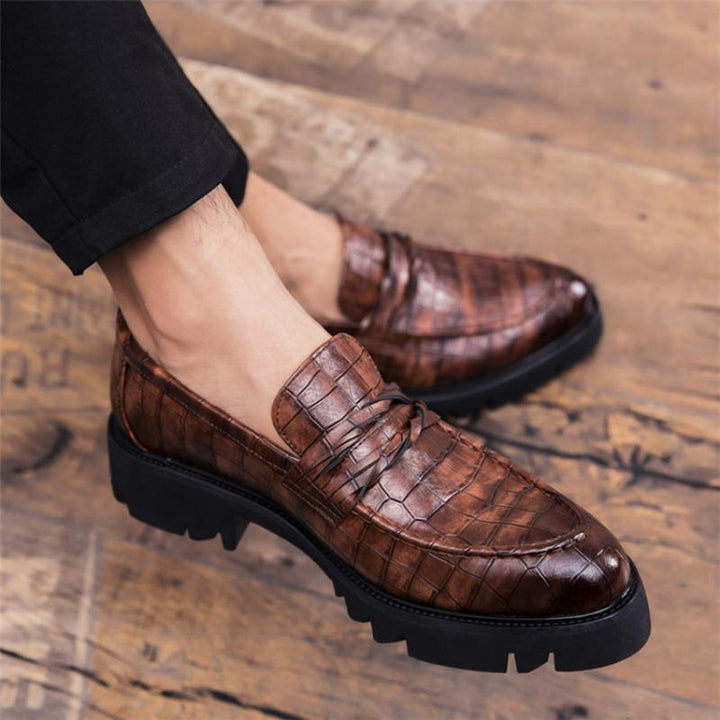 Men's Summer Casual Leather Dress Shoes