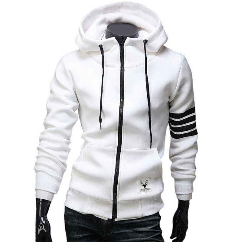 Men's Casual Zipper Hooded Jacket