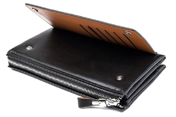 Men's Genuine Leather Long Soft Wallet