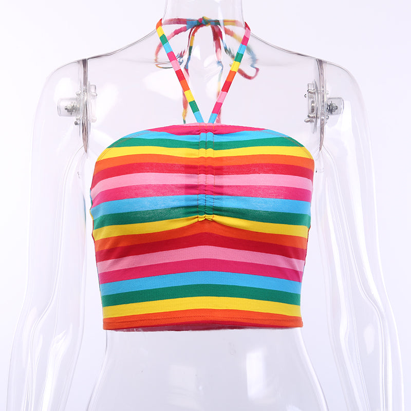 Women's Summer Cotton Stretchy Crop Top