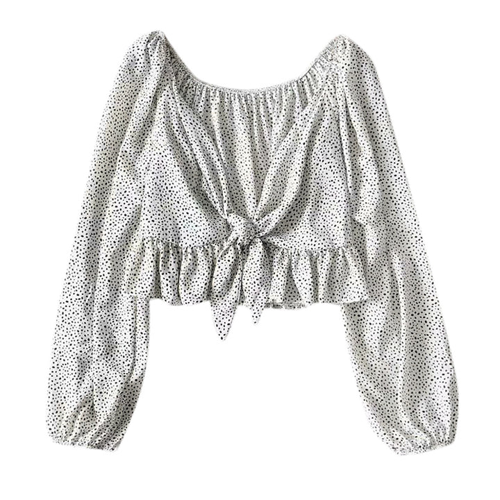 Women's Summer Deep V-Neck Ruffled Crop Top