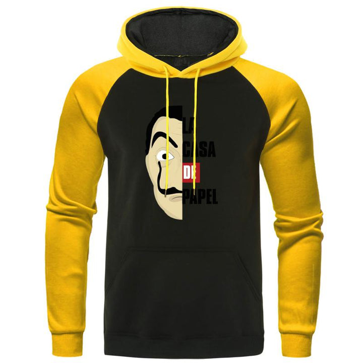 "Men's Autumn Hooded Sweatshirt ""La Casa De Papel"""