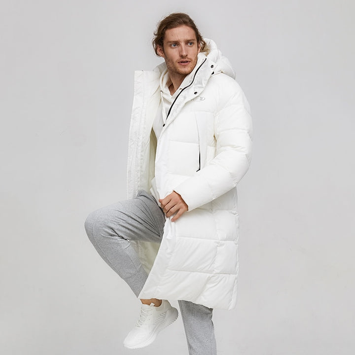 Men's Winter Casual Windproof Warm Hooded Parka