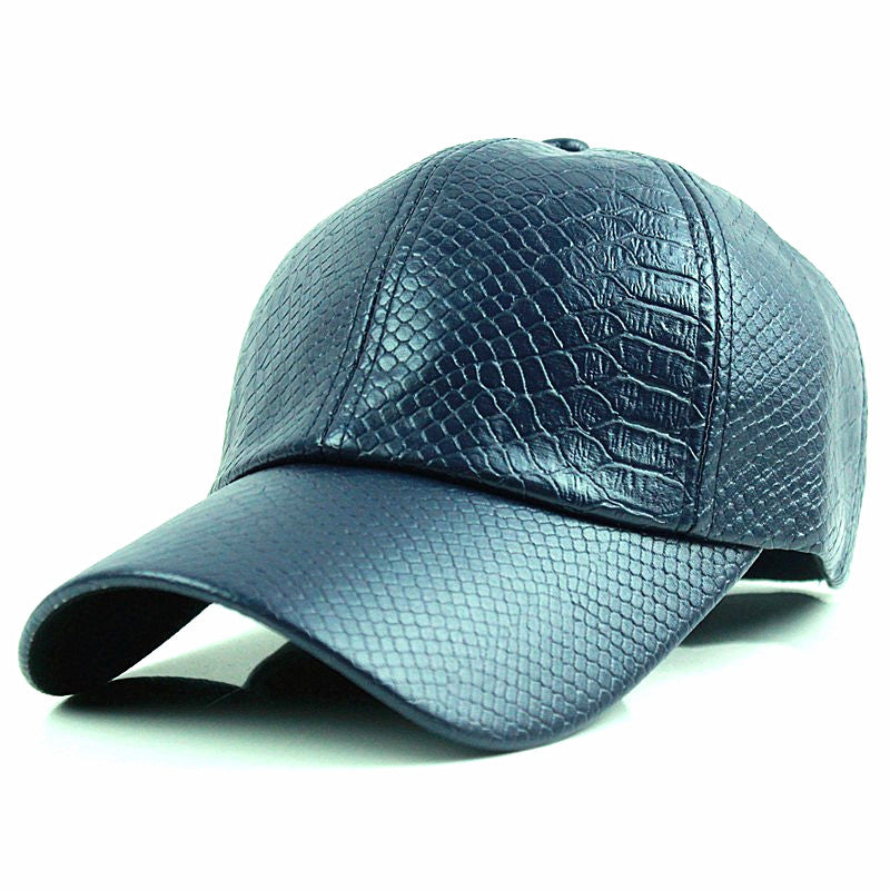 Men's/Women's Winter Leather Baseball Cap