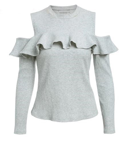 Women's Autumn/Winter With Ruffles Knitted Sweater