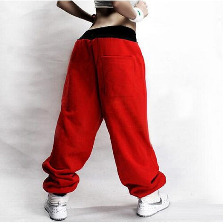 Women's Casual Low-Waist Loose Polyester Pants