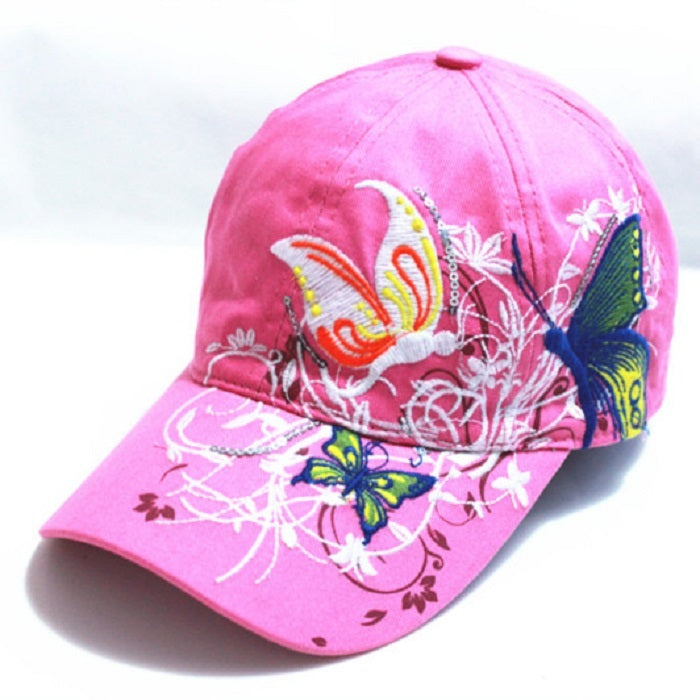 Women's Cotton Baseball Cap With Embroidery
