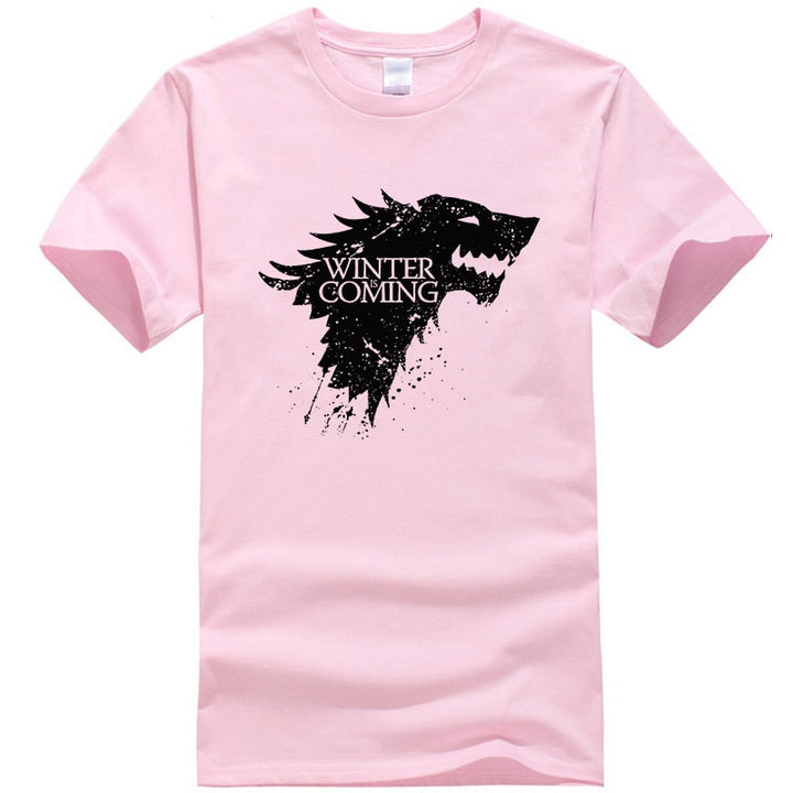 "Men's Casual Cotton T-Shirt ""Winter Is Coming"""