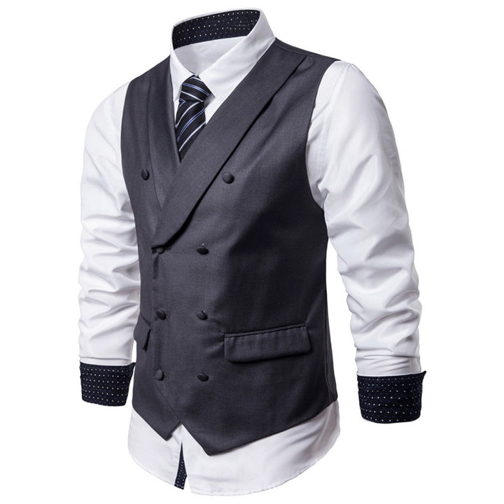 Men's Casual Double Breasted Cotton Vest | Plus Size