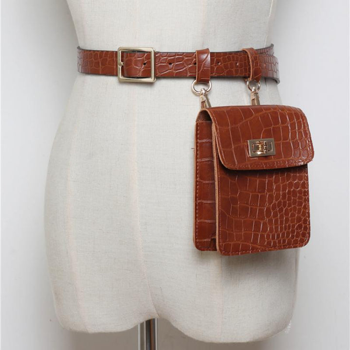 Women's Leather Small Belt Bag
