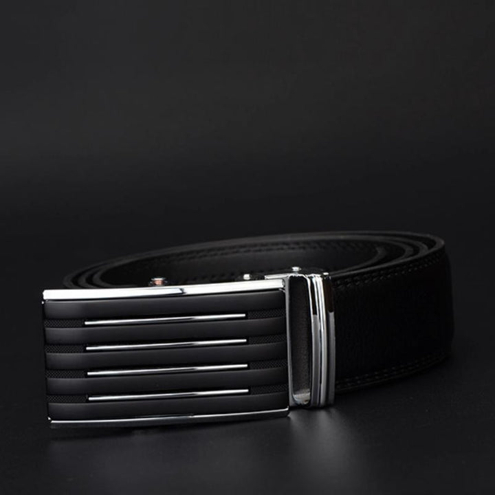 Men's Casual Genuine Leather Belt With Automatic Buckle