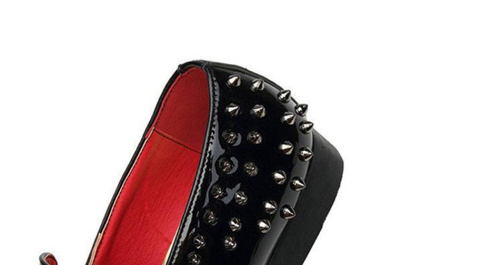Men's Spring Leather Loafers With Rivets | Plus Size