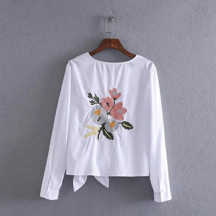 Women's Summer Casual Cotton Blouse