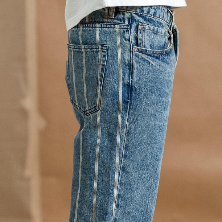Men's Autumn Striped Jeans