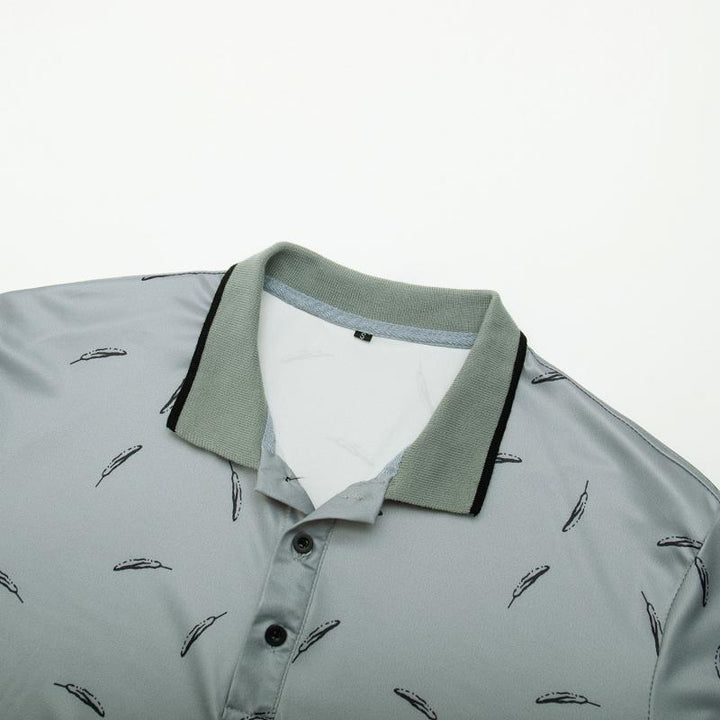 Men's Casual Polo With Print