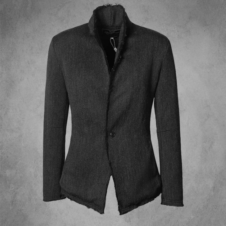 Men's Spring Casual Blazer With Stand Collar