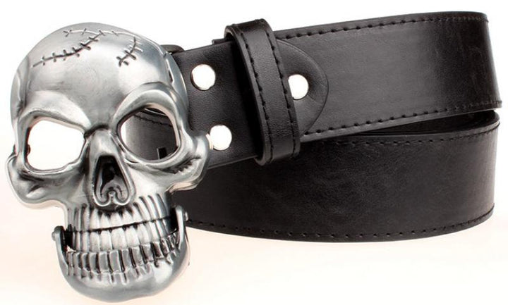 Men's Leather Belt With Metal Buckle