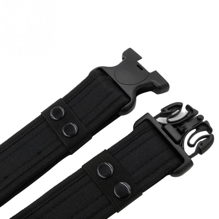 Men's Tactical Canvas Belt With Plastic Buckle