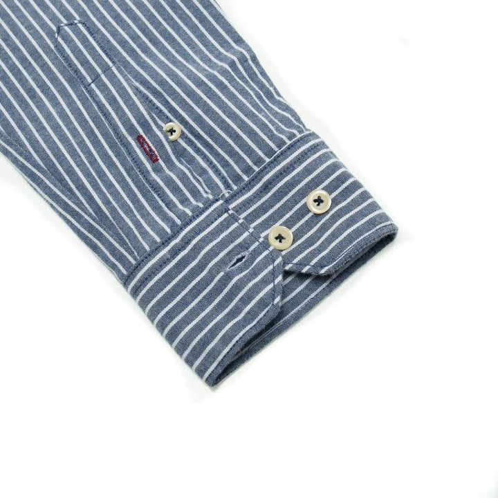 Men's Casual Striped Long Sleeved Shirt