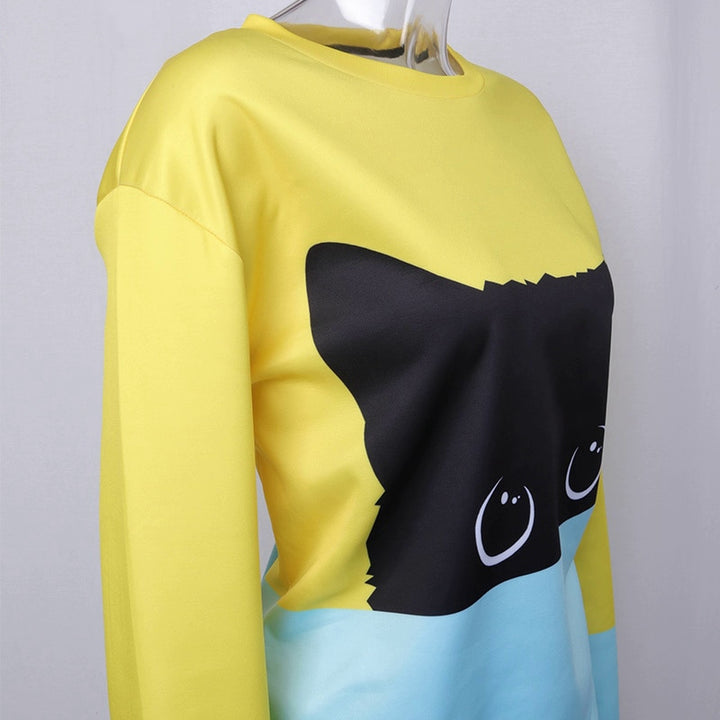 Men's/Women's Autumn/Winter Sweatshirt With Cat Print
