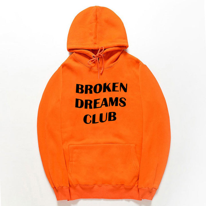 "Men's/Women's Hooded Sweatshirt ""Broken Dreams Club"""