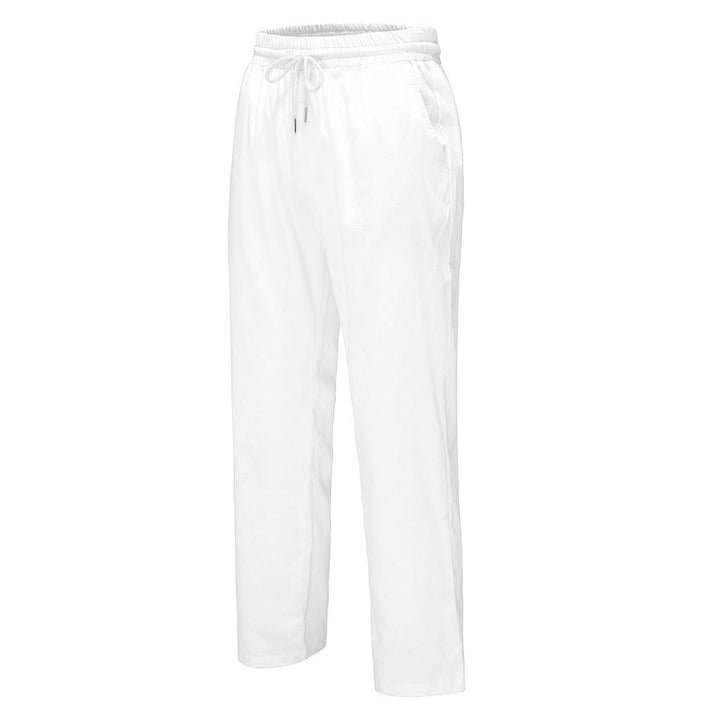 Men's Casual Linen Straight Joggers With Elastic Waist