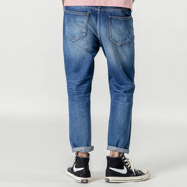 Men's Autumn/Winter Ripped Straight Jeans