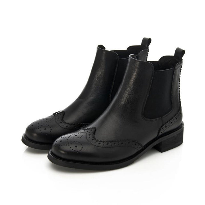 Women's Casual Genuine Leather Ankle Boots
