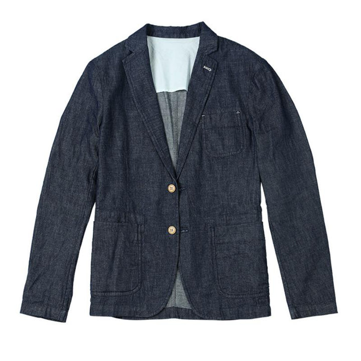 Men's Autumn Casual Denim Blazer