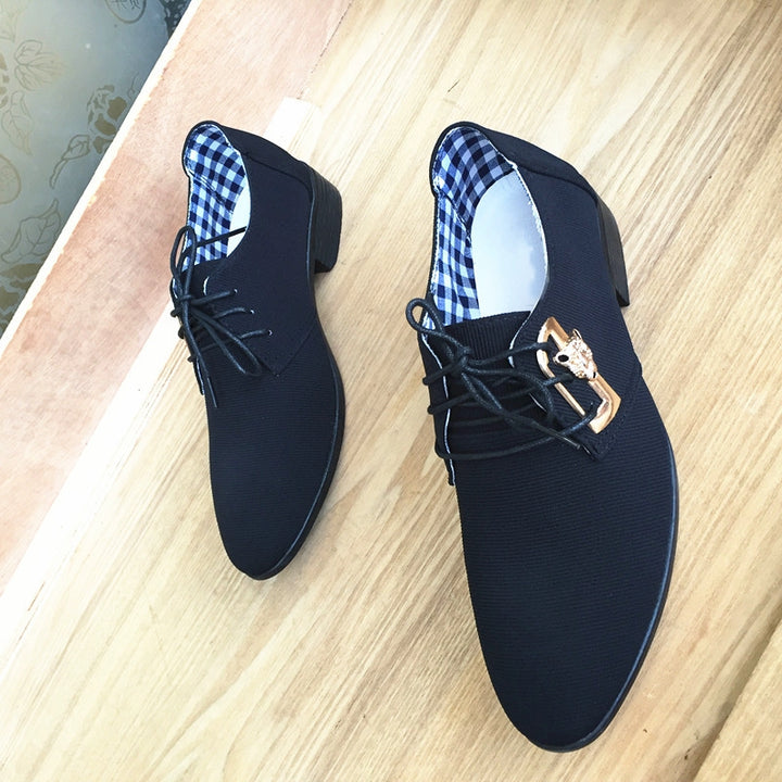 Men's Spring/Autumn Casual Canvas Shoes With Pointed Toe