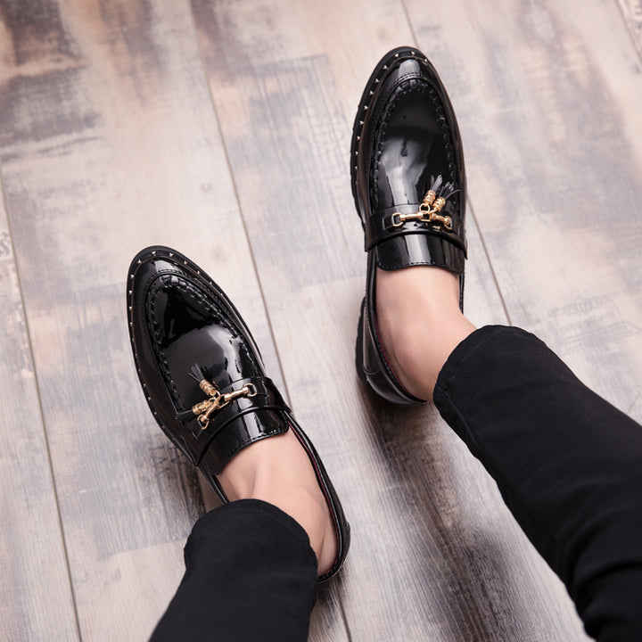 Men's Leather Loafers With Pointed Toe