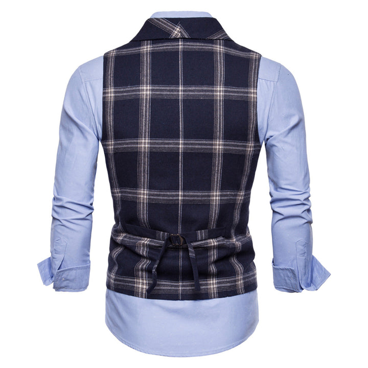 Men's Slim Fit Double Breasted Vest