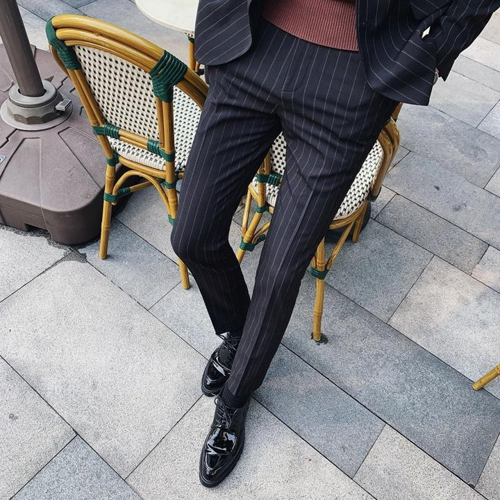 Men's Slim Fit Striped Blazer | Men's Pants