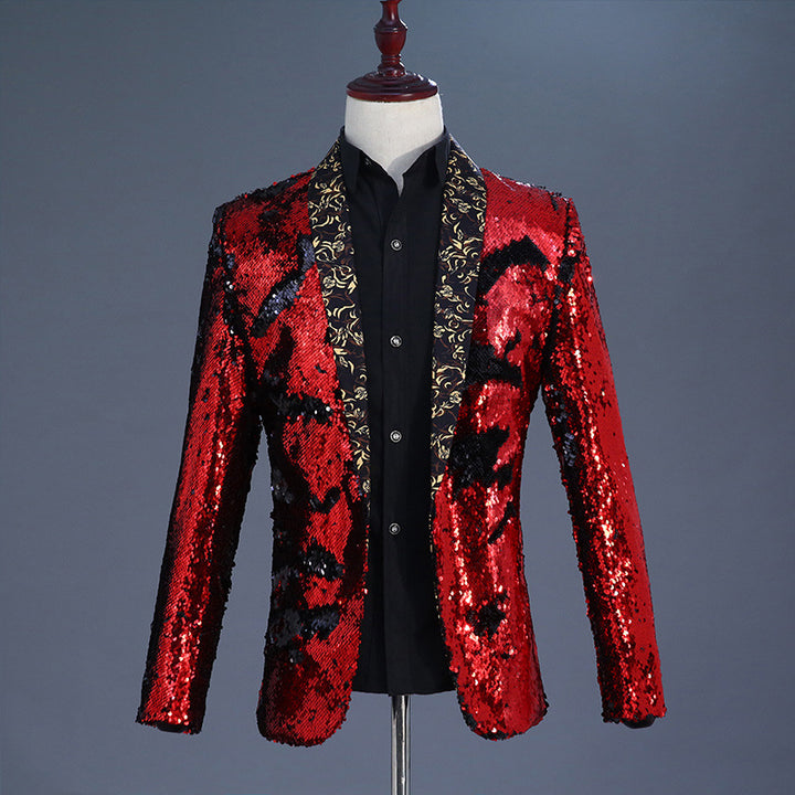 Men's Wedding Blazer With Sequins
