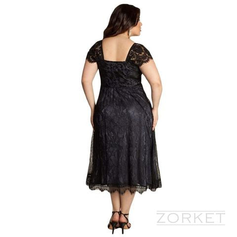 Plus Size Dress With Lace - Zorket