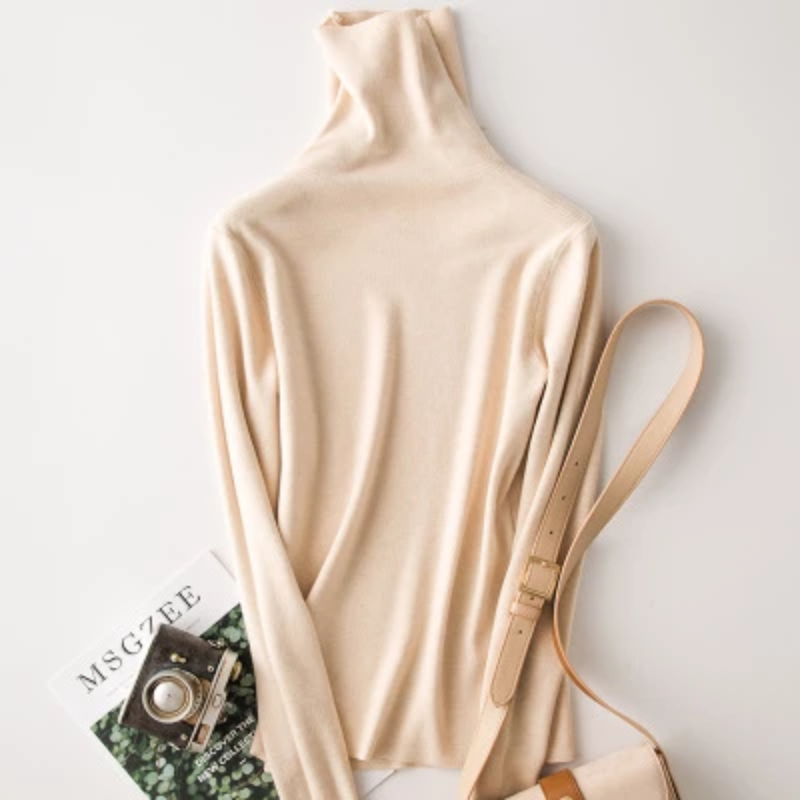 Women's Autumn Knitted Cashmere Elastic Sweater