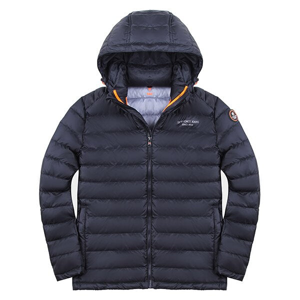 Men's Spring/Autumn Casual Polyester Hooded Coat