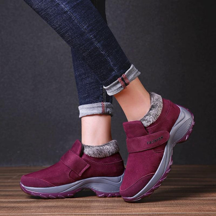 Women's Winter Warm Ankle Boots With Fluff