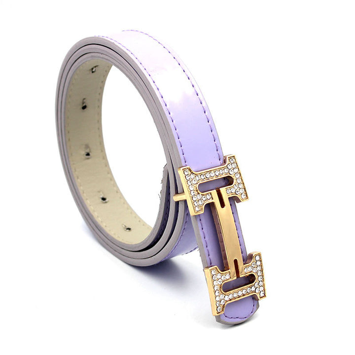 Women's Leather Belt With Metal Buckle