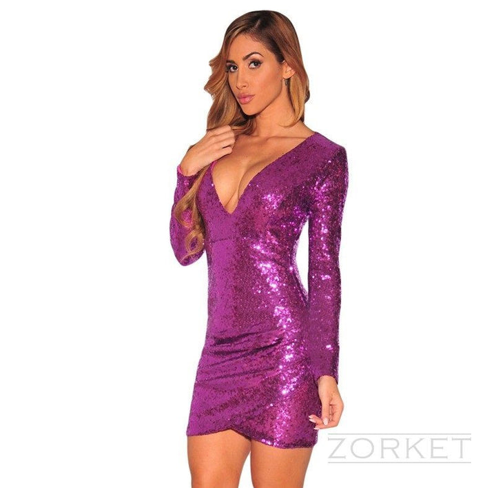 Dress – Female Party Dress With Long Sleeve | Zorket