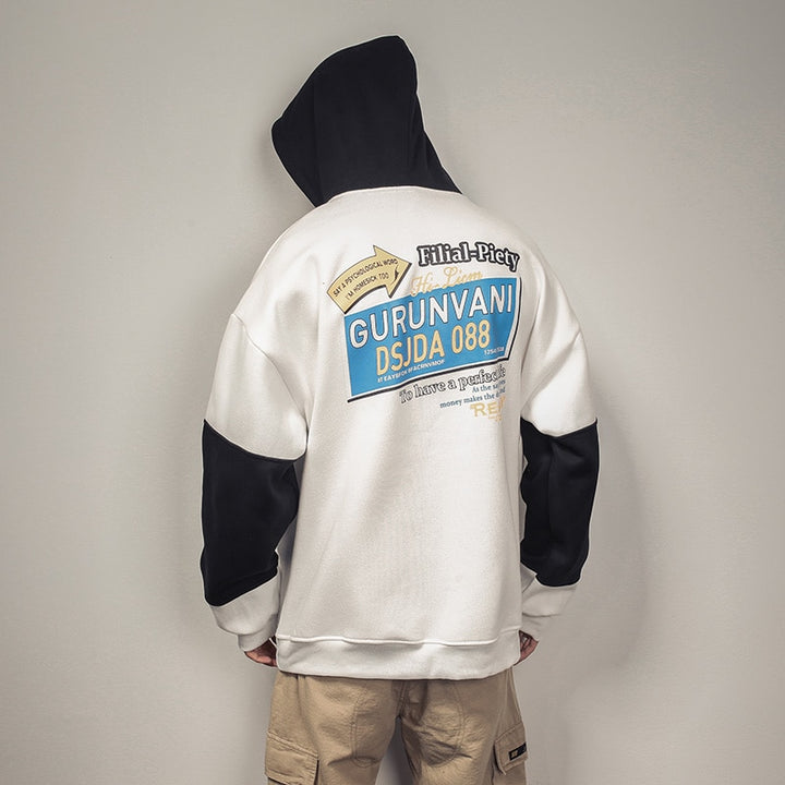 "Men's Winter Hooded Sweatshirt ""Bad Life"""
