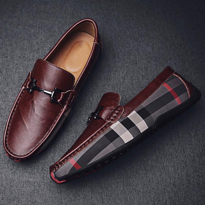Men's Casual Genuine Leather Lightweight Loafers | Plus Size