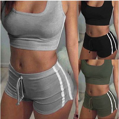 Women's Summer Set Cropped Top Shorts