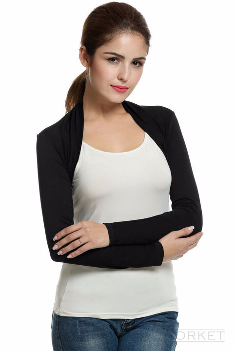 Cardigan – Fashionable Women's Short Cardigan With Long Sleeve | Zorket