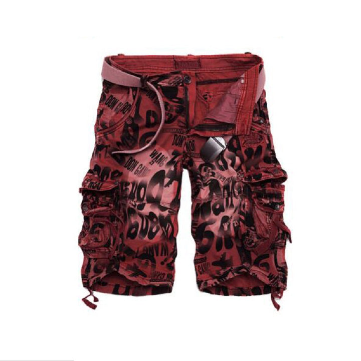 Men's Summer Loose Mid-Waist Cargo Shorts