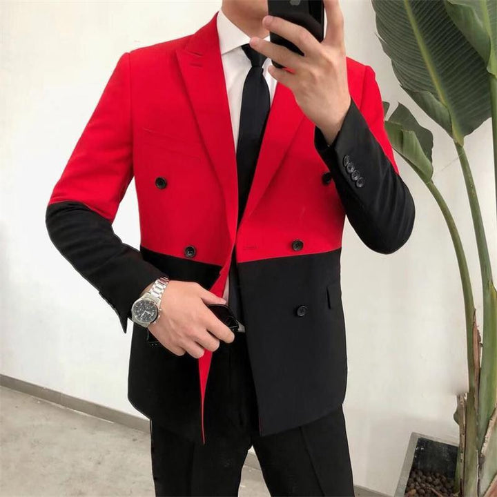 Men's Slim Fit Double Breasted Blazer