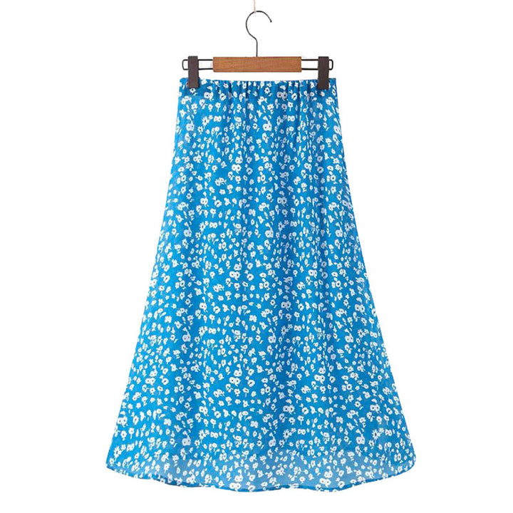 Women's Summer Casual Long Loose Skirt With Print