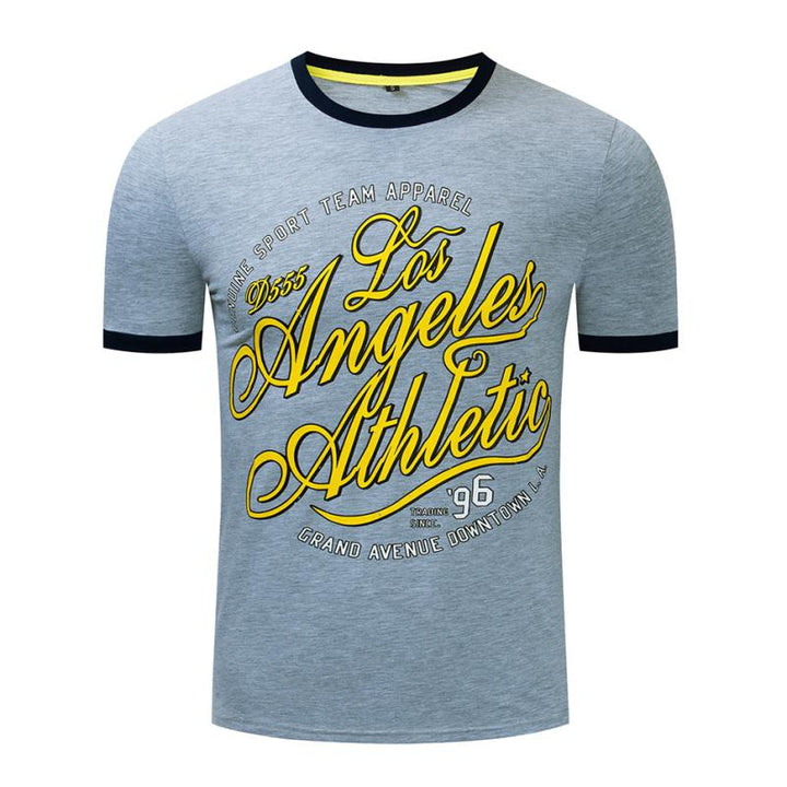 "Men's Summer Casual Cotton O-Neck T-Shirt ""Los Angeles Athletic"""